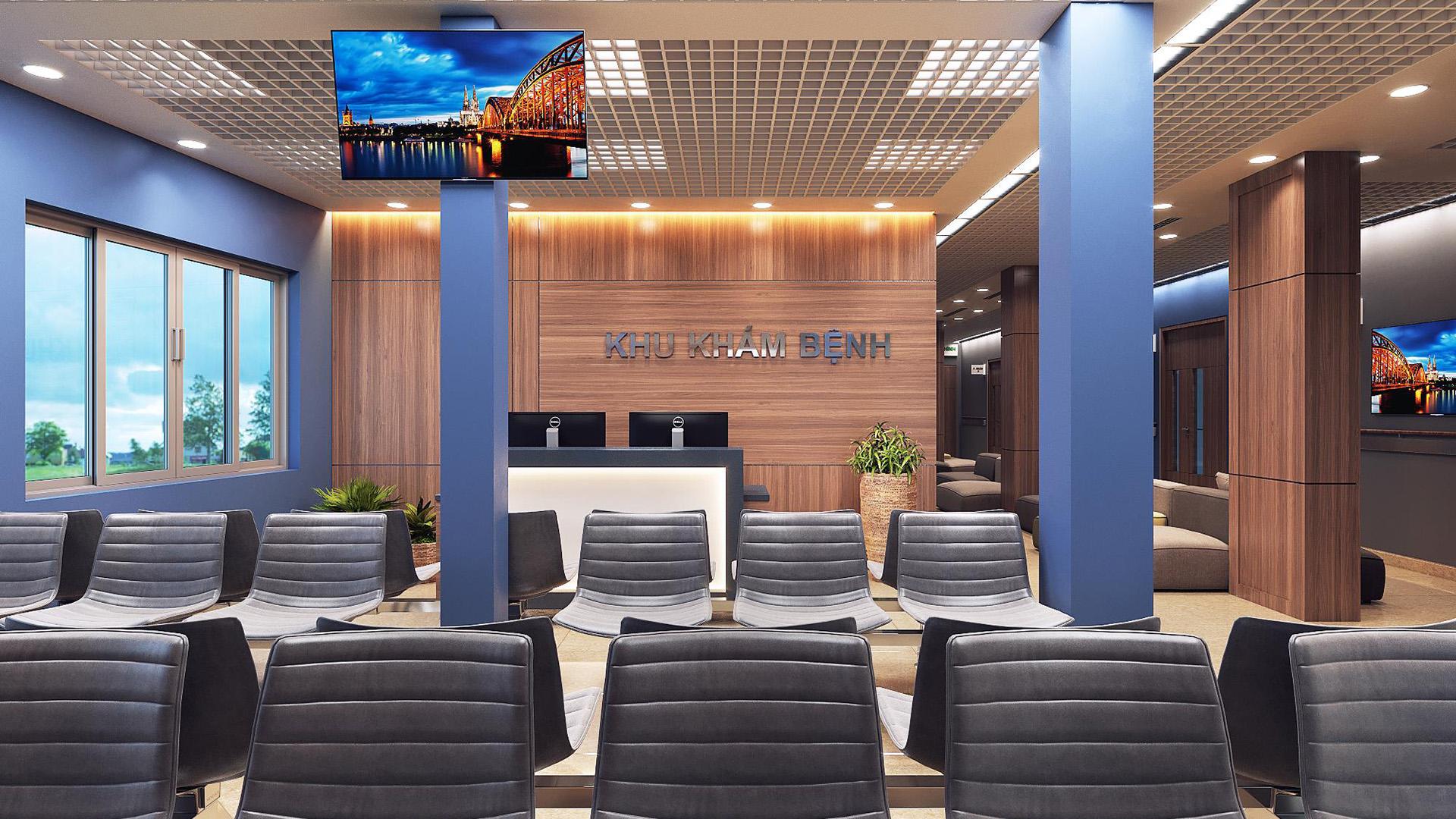 Thiết kế nội thất bệnh viện hiện đại & vật liệu sử dụng
